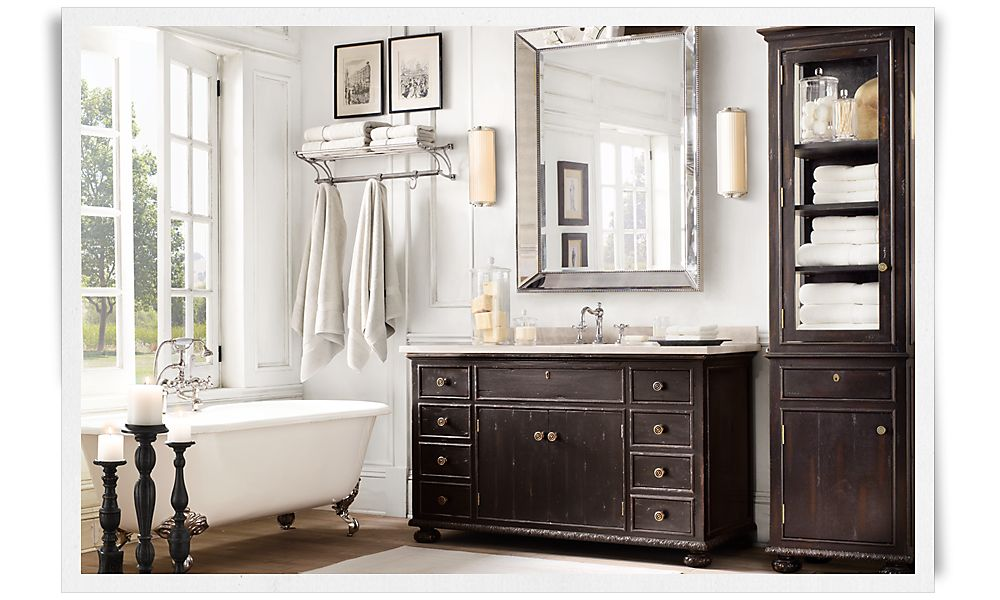 A deconstructed home by restoration hardware christina Restoration hardware bathroom