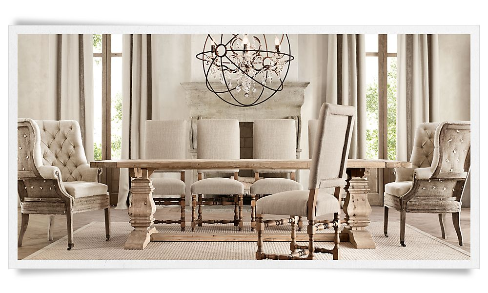 A deconstructed home by restoration hardware christina for Restoration hardware dining room ideas
