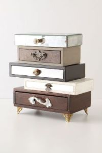 Anthropologie topsy turvy jewelry box