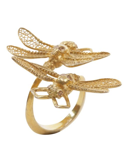 Alexander Mcqueen dragon fly ring