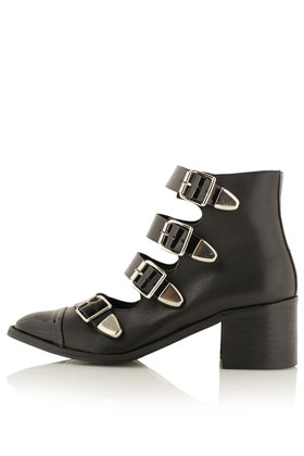 topshop ANNA BUCKLE STRAP BOOTS